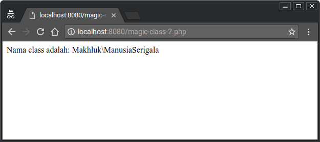 Magic Constants Results ClassName :: class