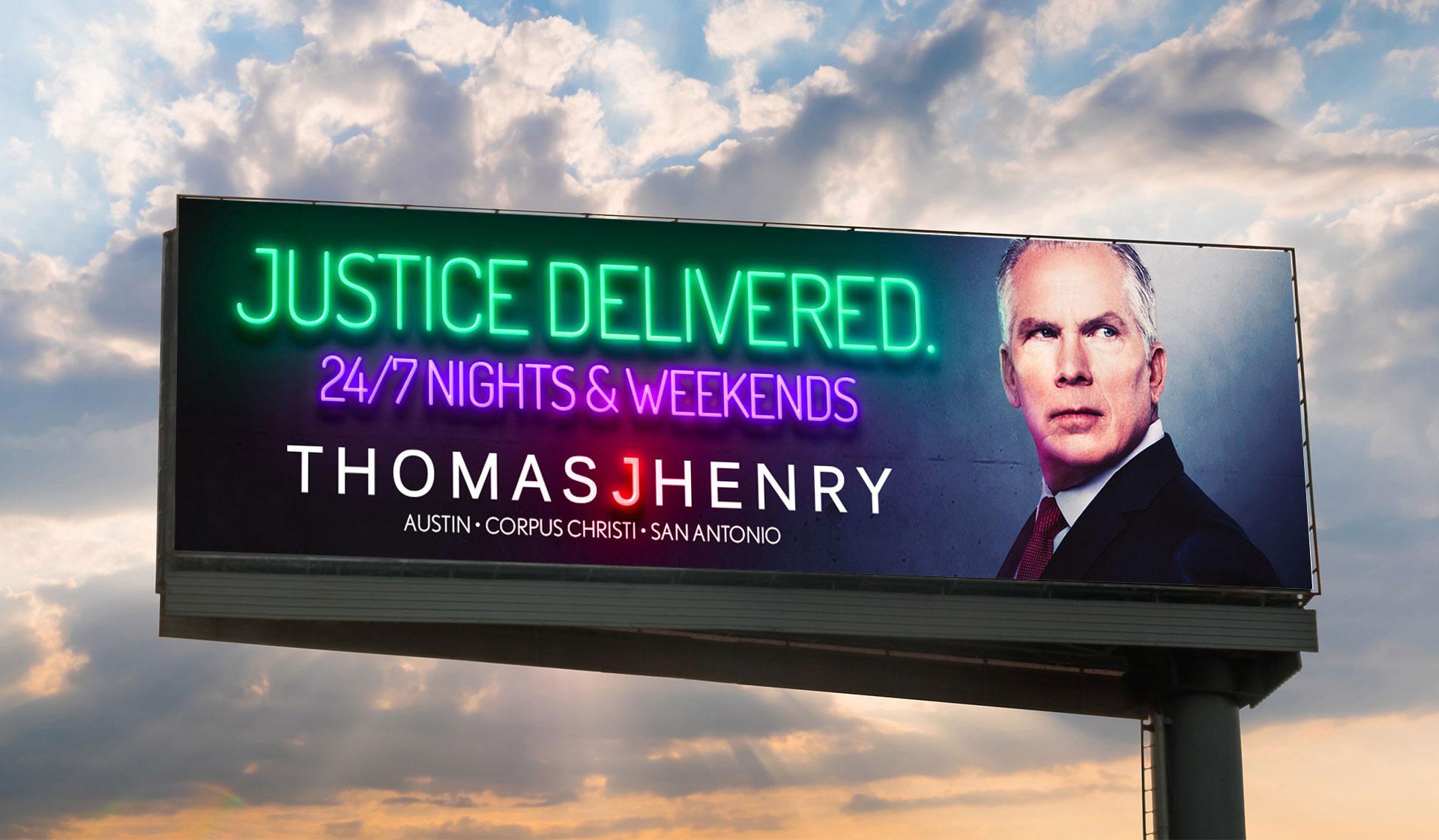TJH Justice Billboard
