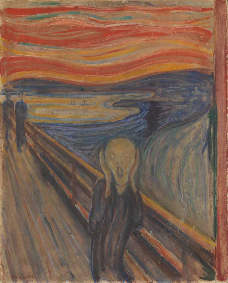 The Scream, by Edvard Much, src: https://en.wikipedia.org/wiki/The_Scream
