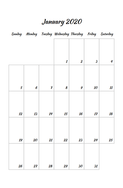 Monthly Planer Template
