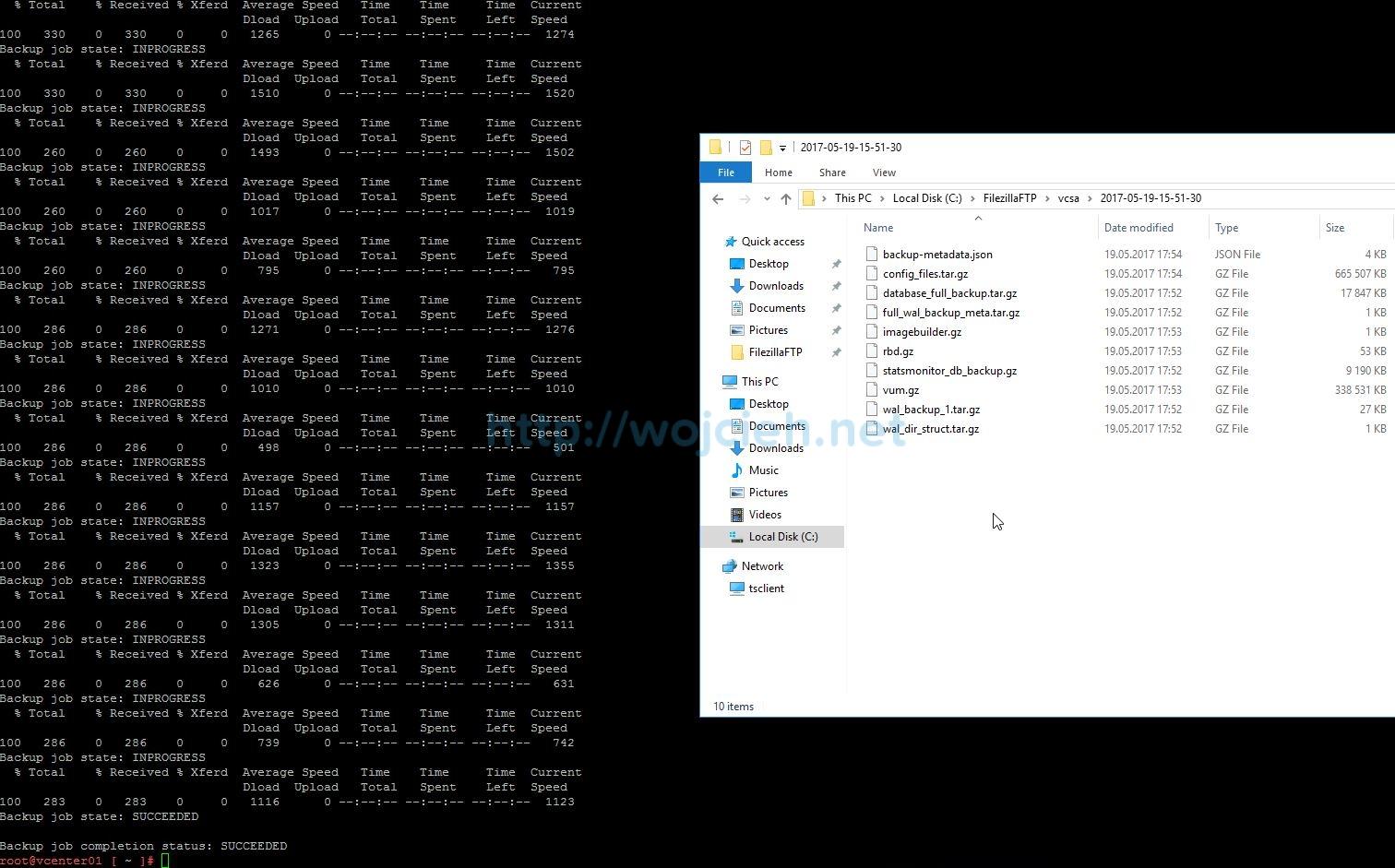 Update vCenter Server Appliance 6.5 to a newer version - 9