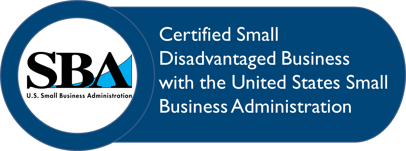 Small business and small disadvantaged business certification logo