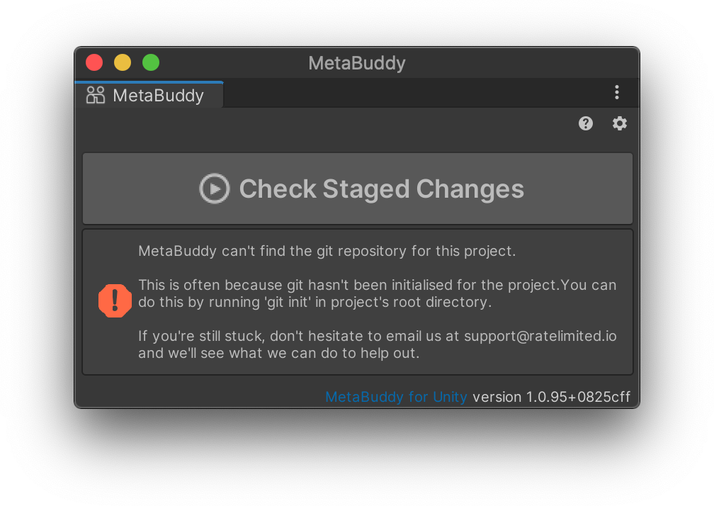 MetaBuddy Can't Find Git Repository