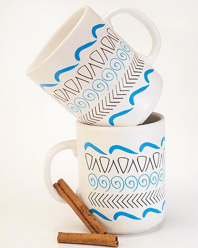 Tazza in ceramica Motifs
