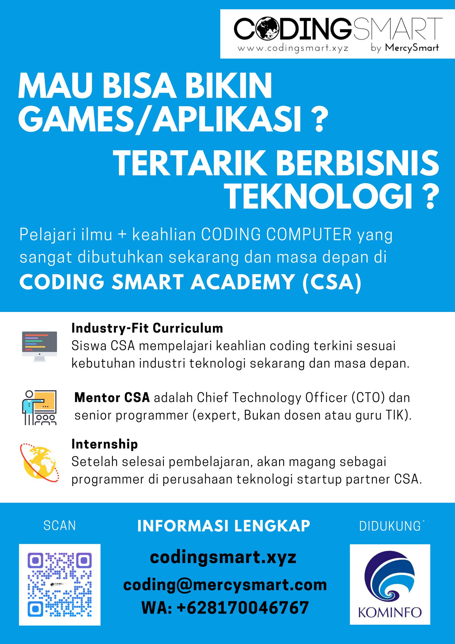 Poster Biru Coding Smart Academy