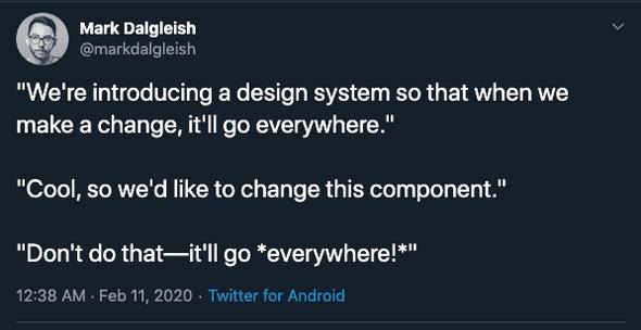 design system tweet