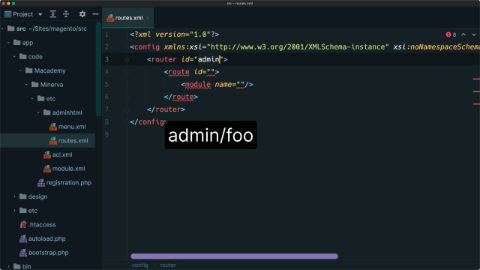 Create an admin route