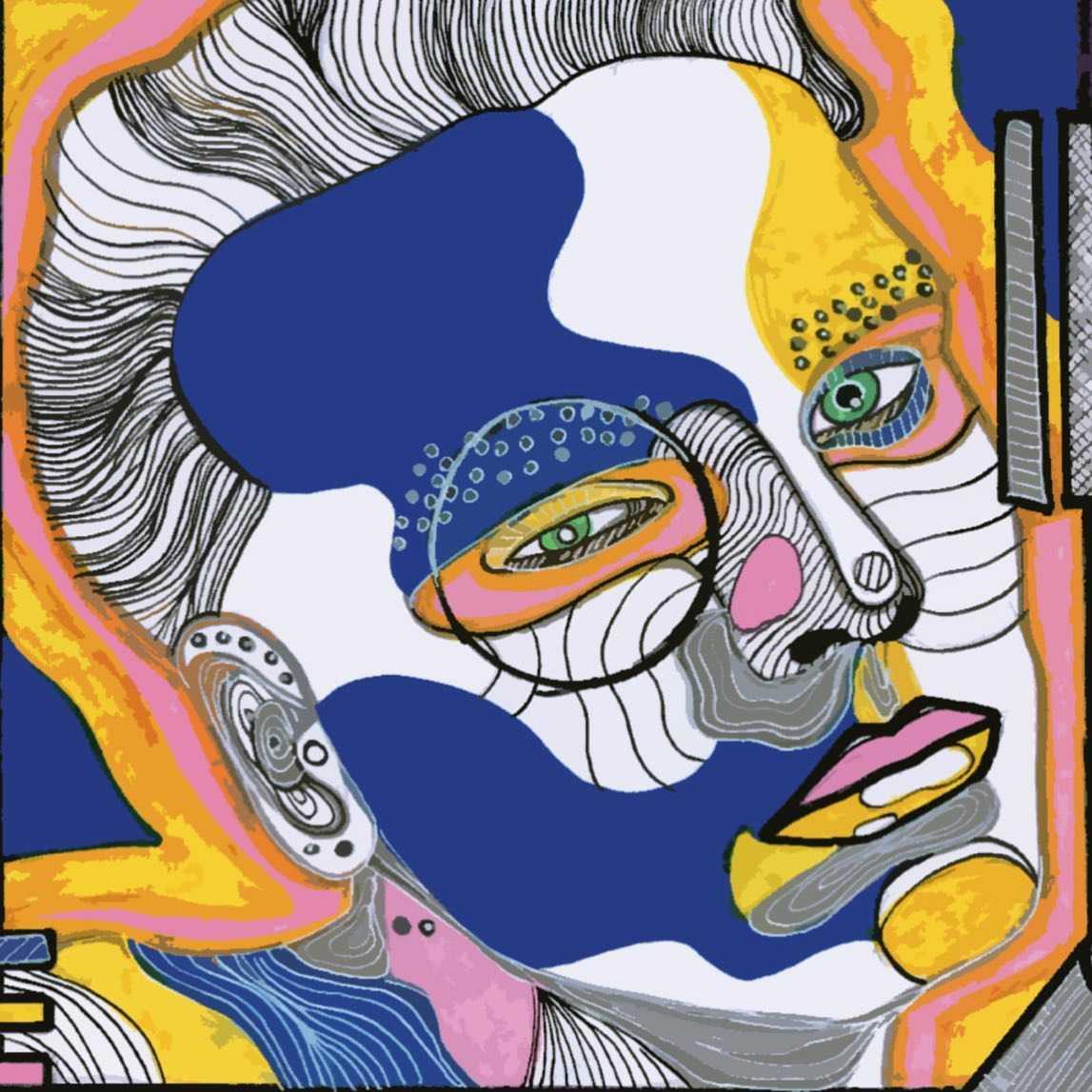 Aquarius 🐋  .  #illustration#digitalillustration#drawing#colourfulillustration#face#womenofillustration#artwork#graphicdesign#shapes#surrealillustration#psychodelicart#art#artsanity#gustedesign#itsnicethat#detaileddrawing#selectedwork#design