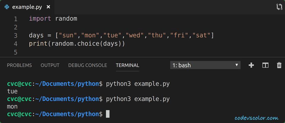 python random element in sequence