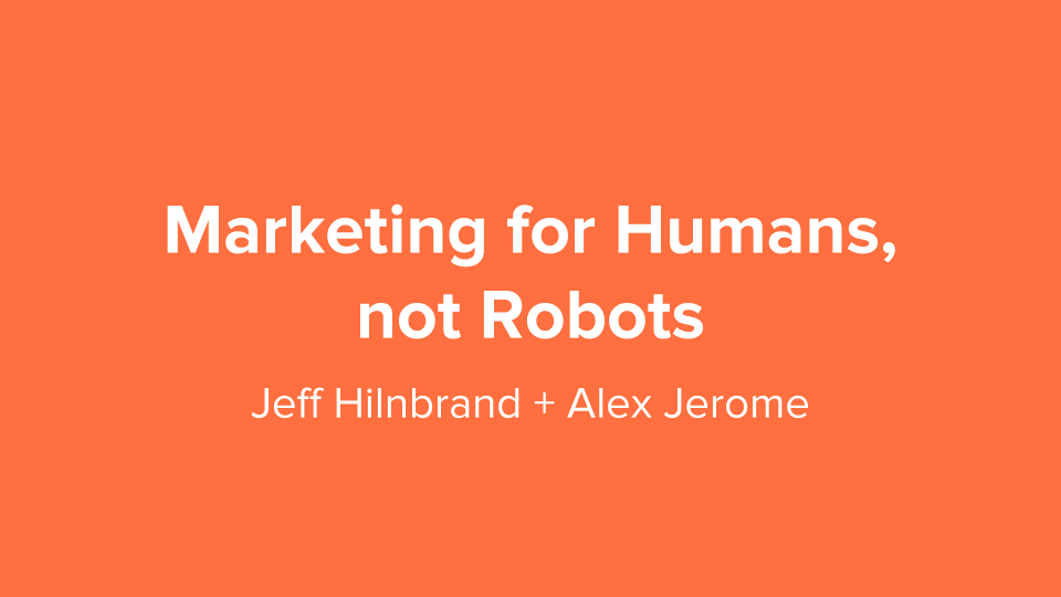Marketing For Humans, Not Robots logo