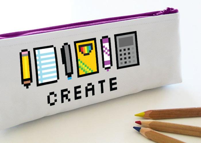 8-bit pencil pouch