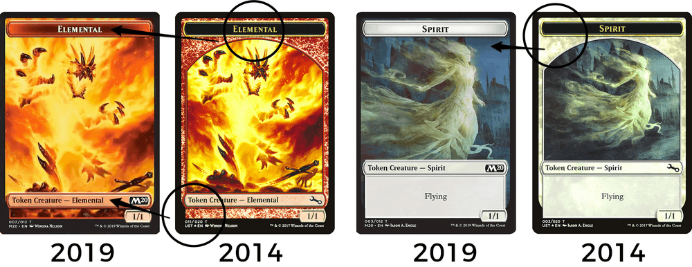 MTG token - new card frame design in Core Set 2020