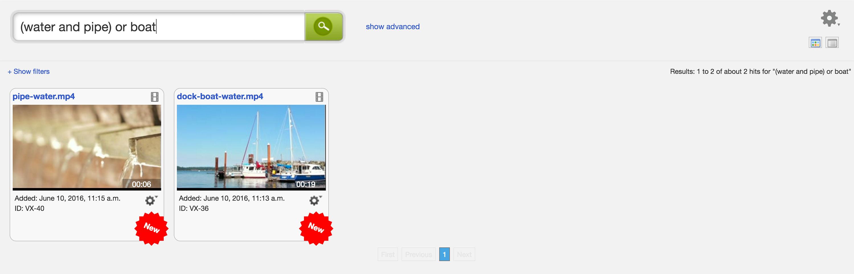 Cantemo Portal Manage Search and Advanced Search