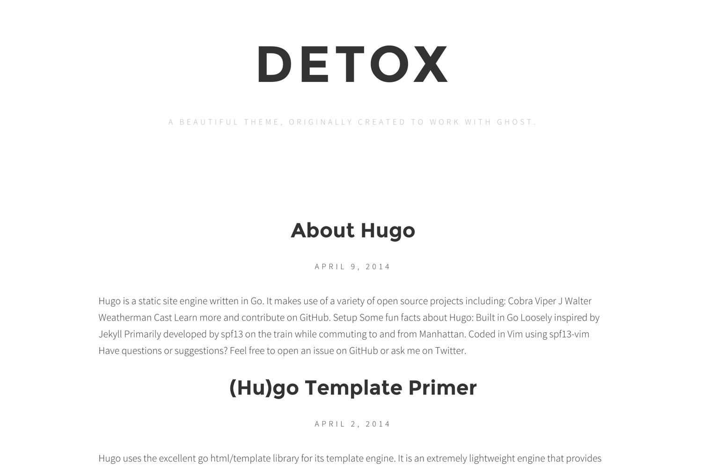 Hugo Themes Detox