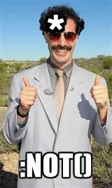 Borat saying: *:not()