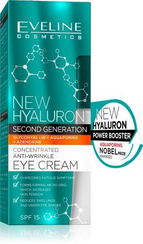 EVELINE New Hyaluron koncentrált ránctalanító szemránckrém 15 ml | Eveline Cosmetics