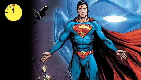 Superman e Doutor Manhattan em capa de O Relogio do Juizo Final