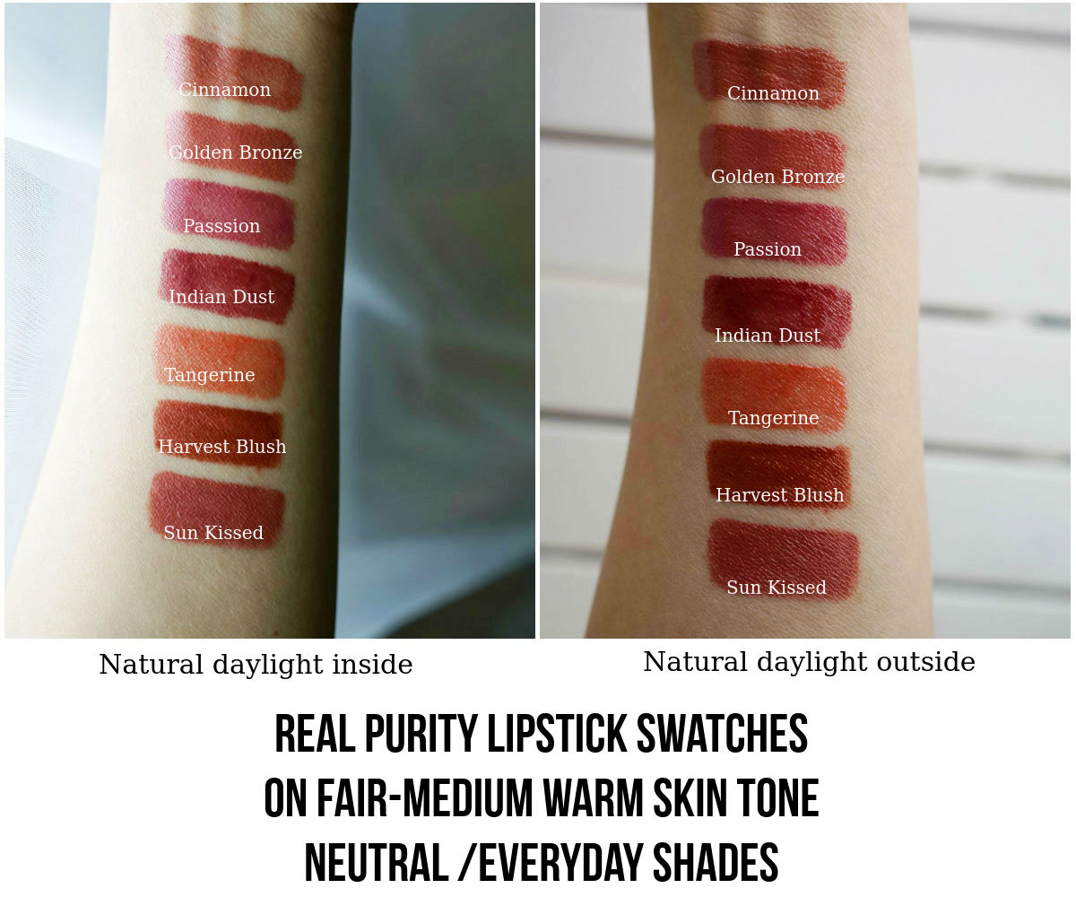 Real Purity Lipstick Neutral Shades