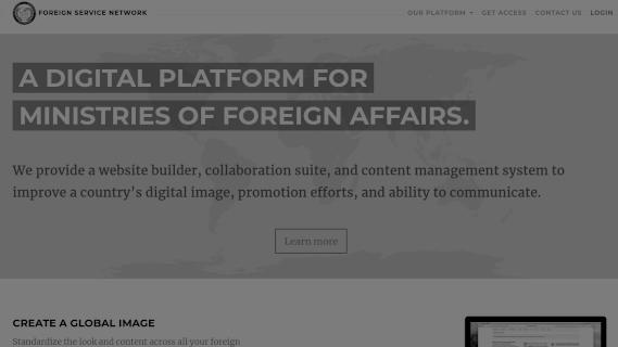 Screenshot of Foreign Service Network
