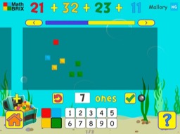 Add four 2-digit numbers (no regrouping) Math Game