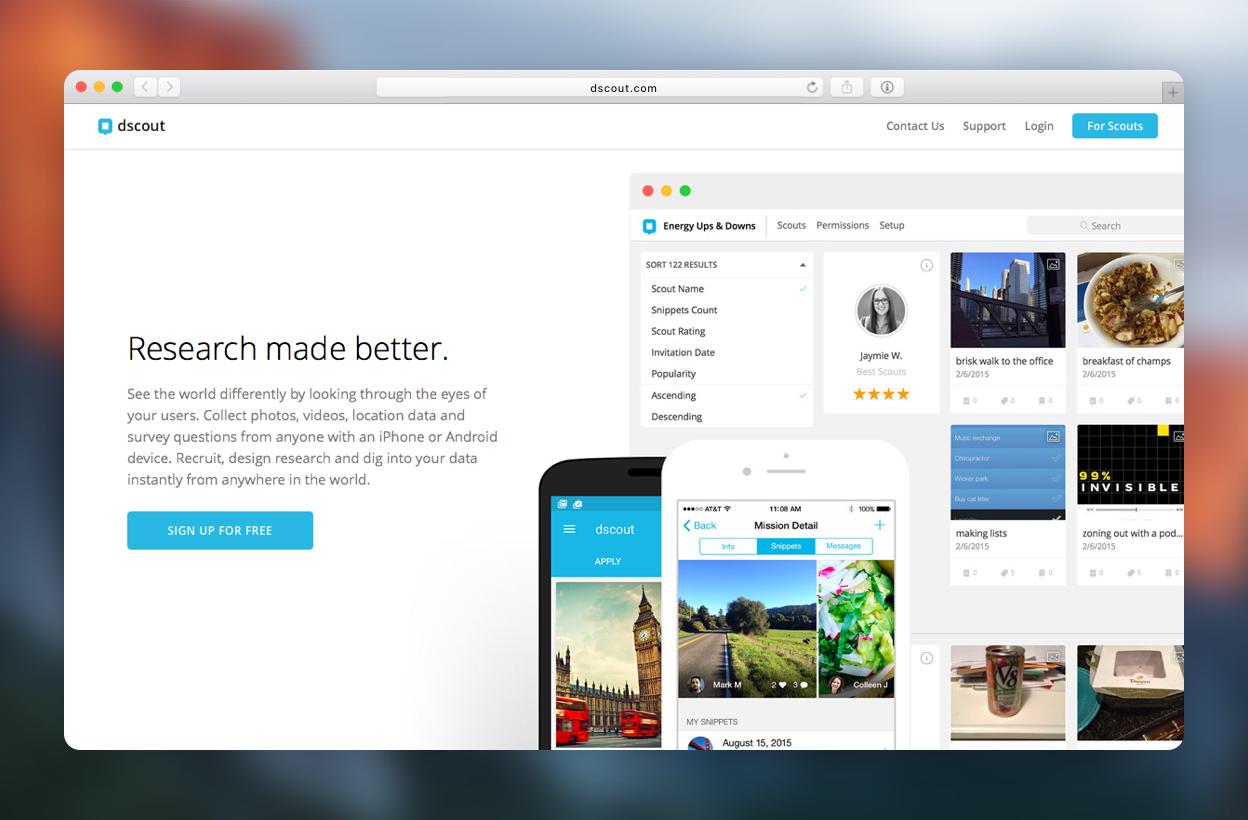 Marketing Site - dscout