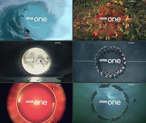 A selection of new BBC One idents