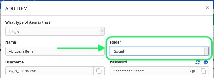 Move item to a Folder
