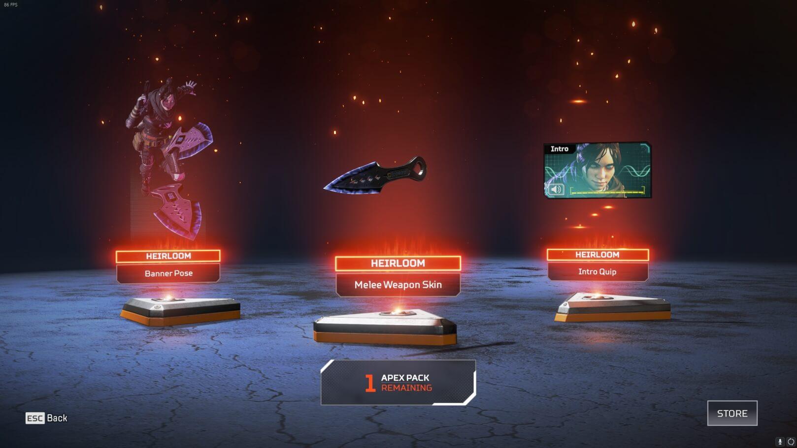 Wraith's heirloom set