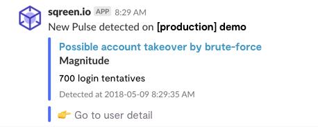 Slack Notification Brute Force Attack