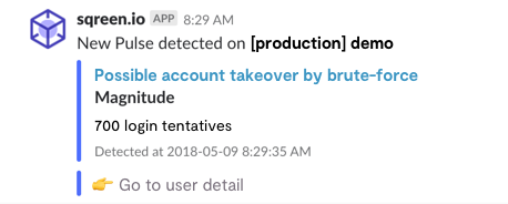 Slack Notification Brute Force Attack