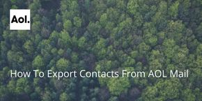 How To Export Contacts From AOL Mail