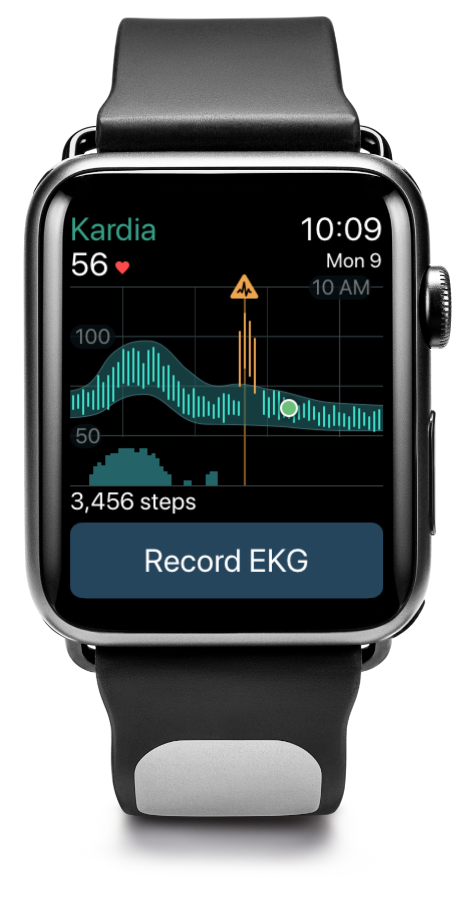 Image showing heart rate and activity on the Kardia app
