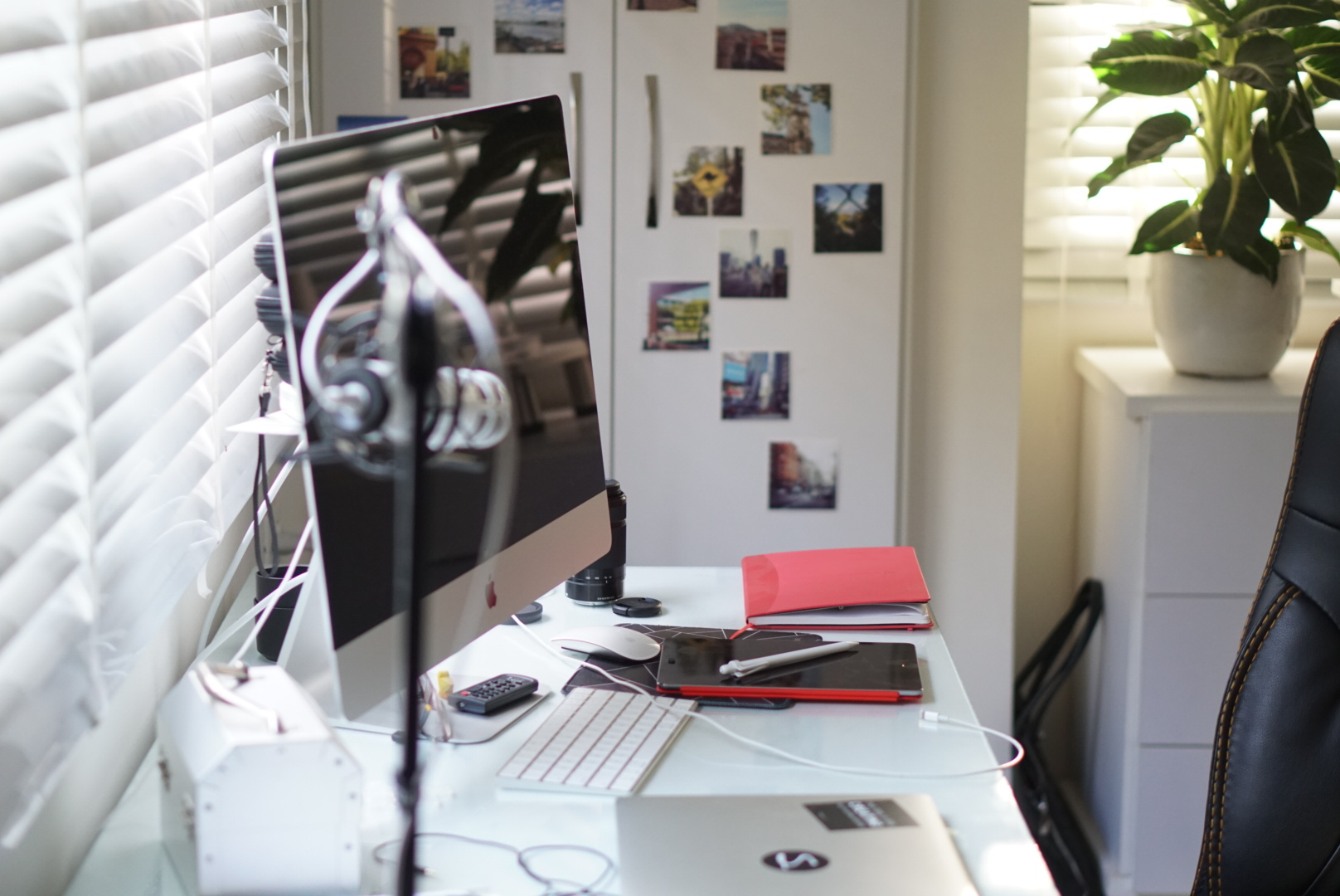 Sara's desk.