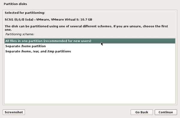 partitioning kali linux