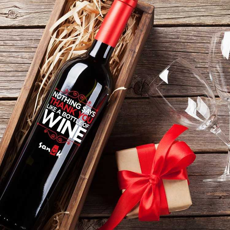 company holiday wine gift sets by Etching Expressions