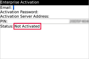 Email Signatures for Blackberry - Enterprise Activation