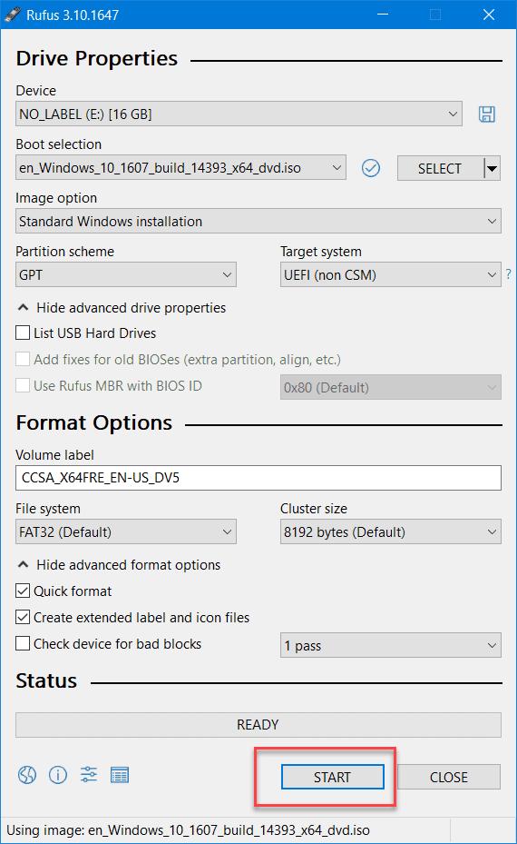 Make Bootable USB Rufus