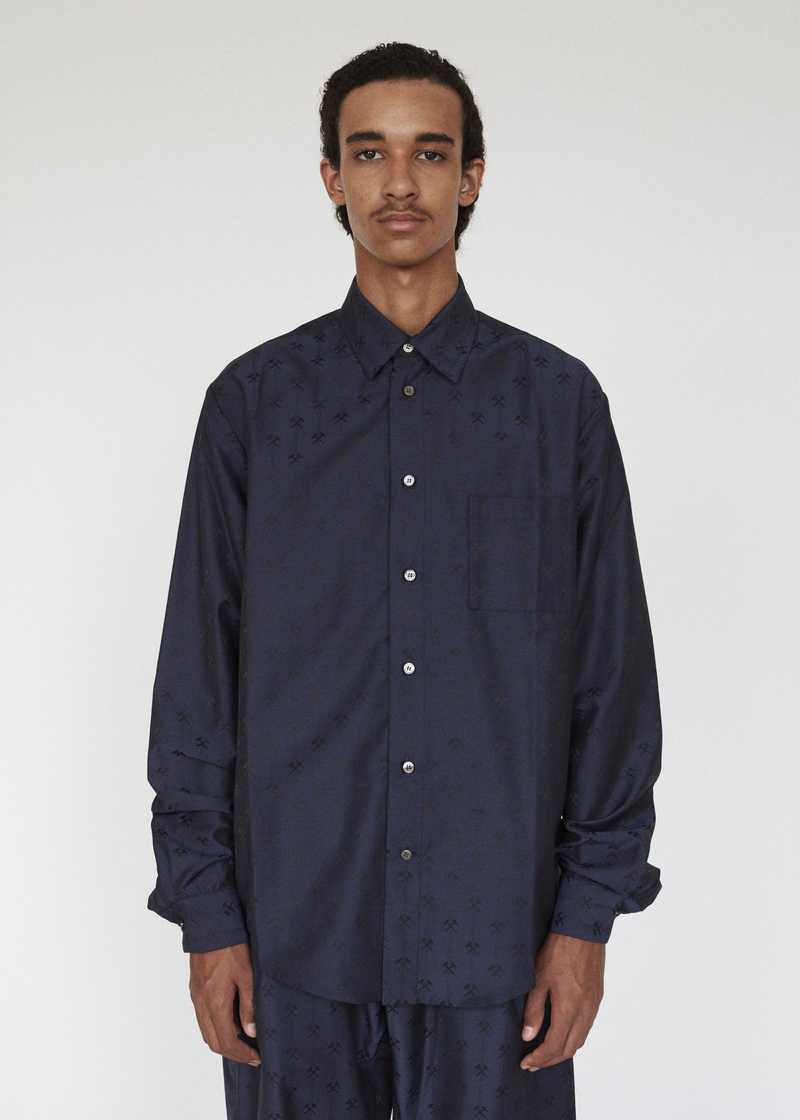 LINUS GMBH AW19 SHIRT NAVY PREVIEW