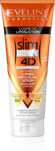 EVELINE Slim Extreme 4D Liposuction hűsítő hatású intenzív zsírégető és karcsúsító szérum 250 ml