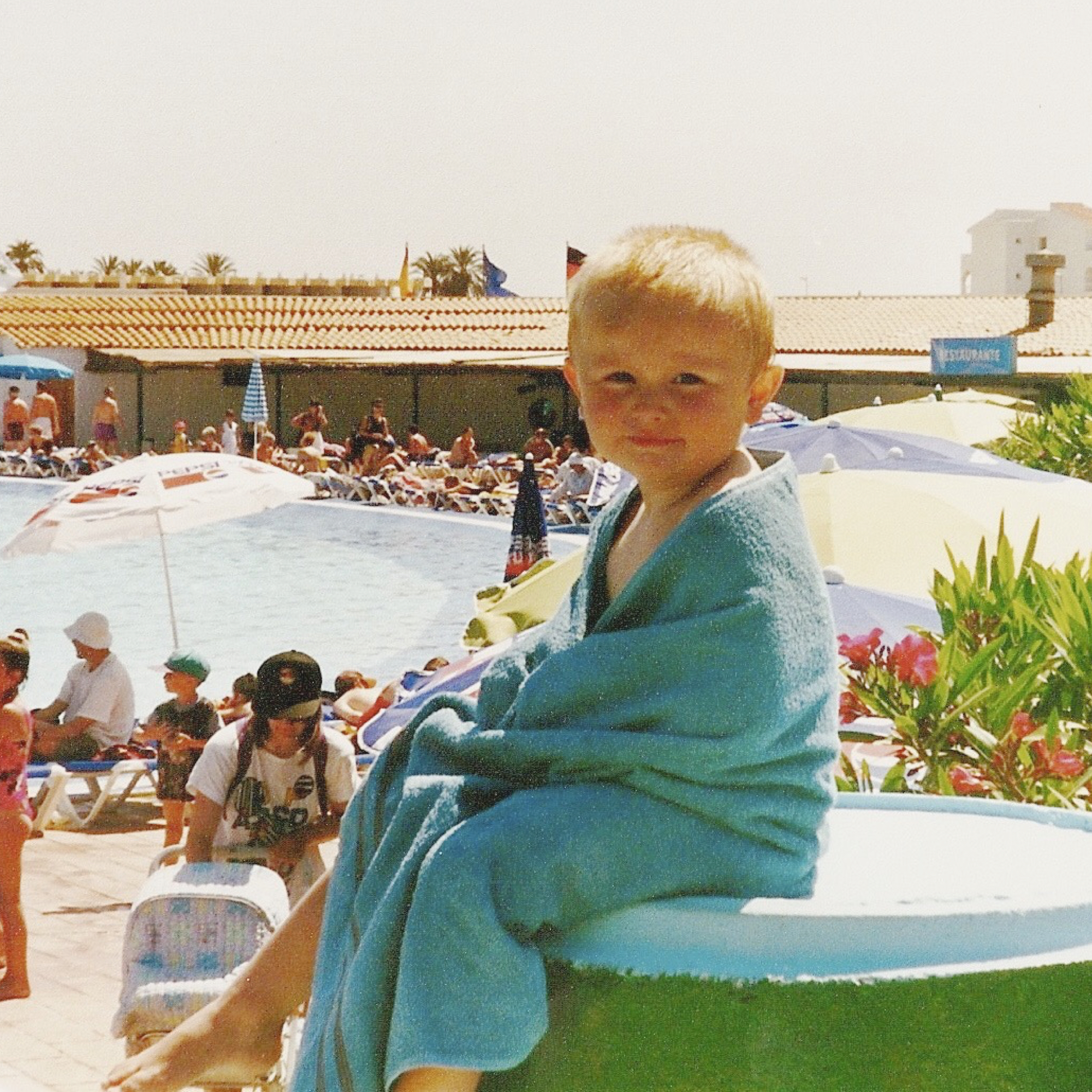 Jack Watkins on holiday as a child