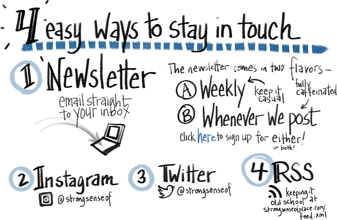 5 ways to follow.