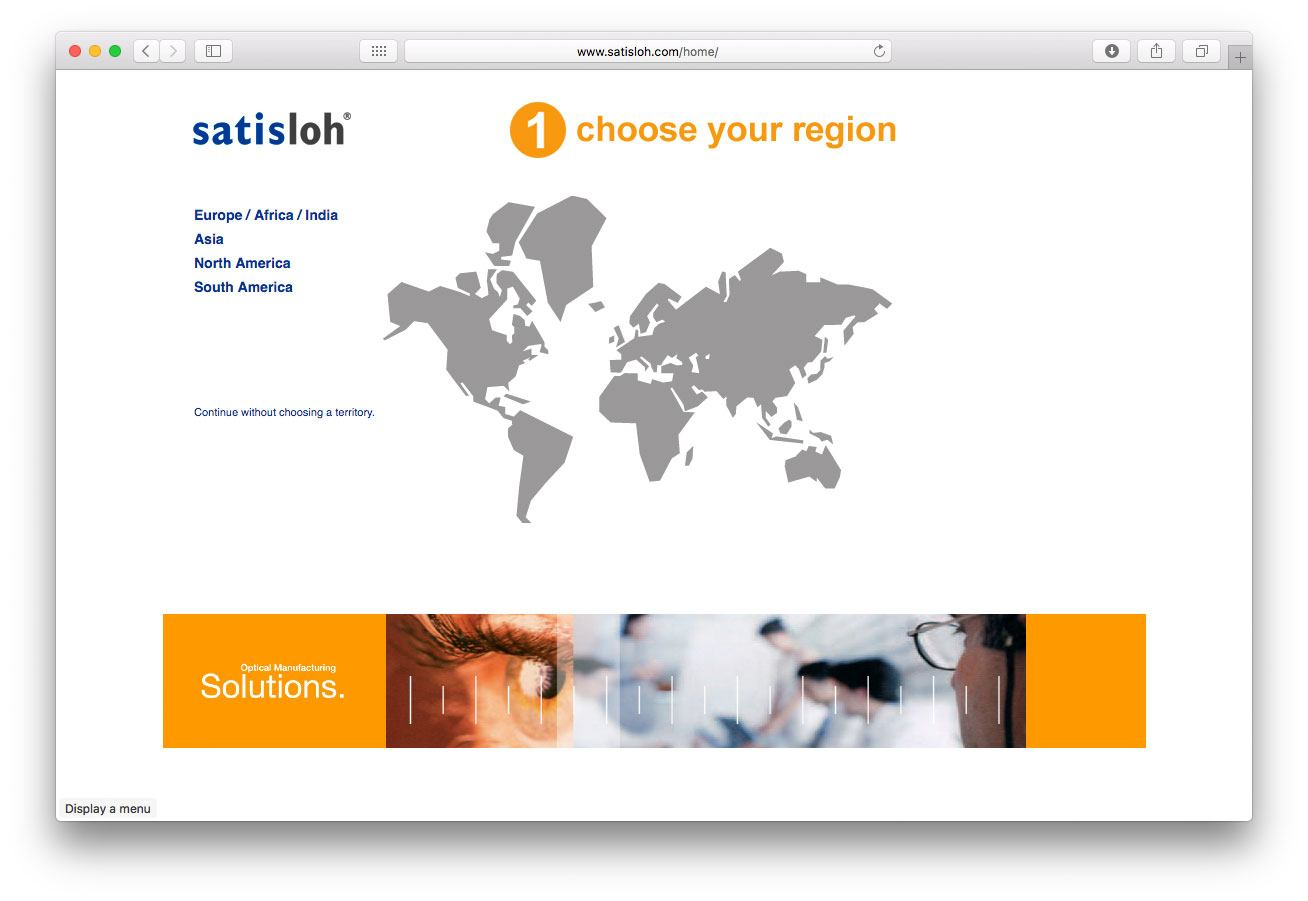 Satisloh Enterprise CMS Screenshot