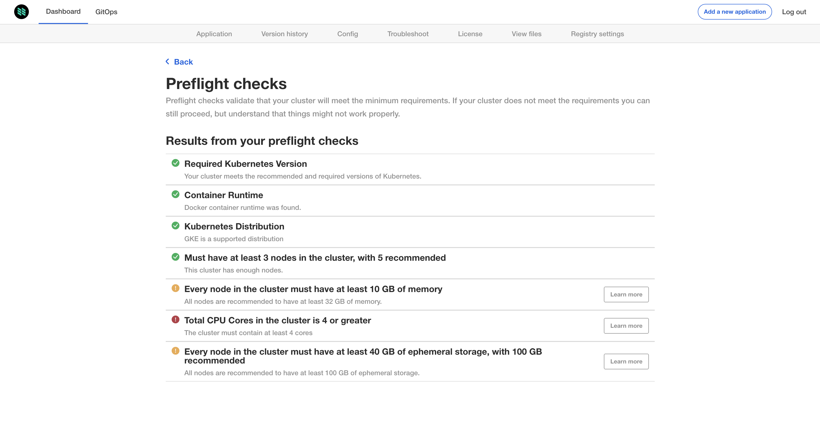 Unsuccessful preflight check will not allow you to update