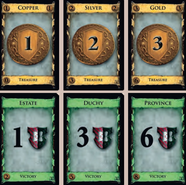 Treasure and Victory cards