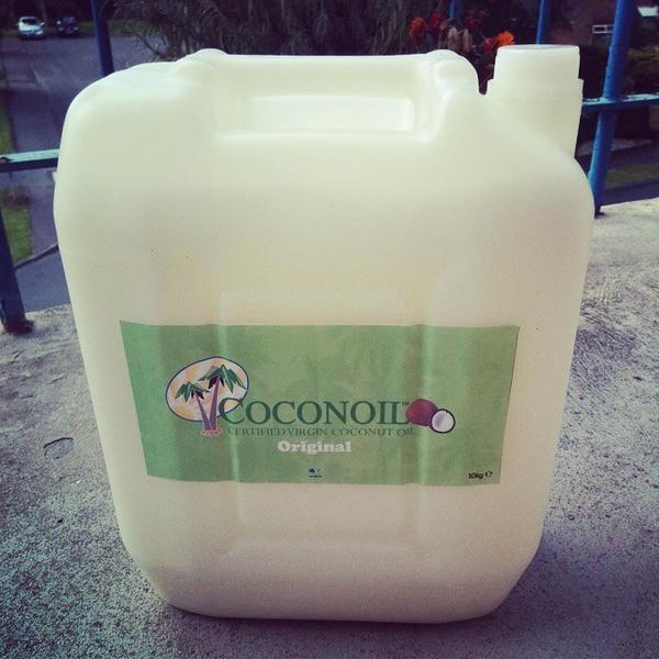 Coconut Oil in a Jerrycan