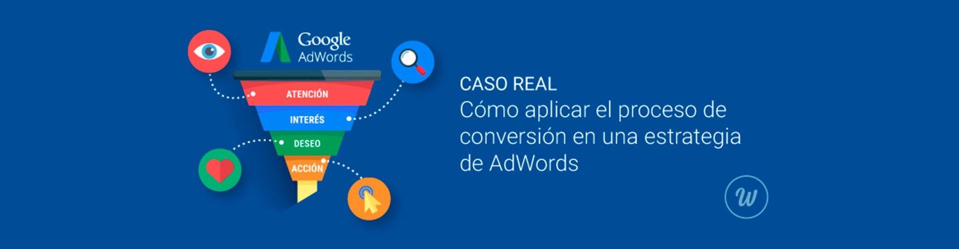 Cómo aplicar el proceso de conversión en una estrategia de AdWords. Caso real.