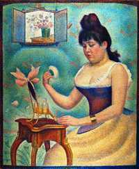 'Jeune femme se poudrant (Young Woman Powdering Herself)' by by Seurat, 1888–90, Courtauld Institute of Art