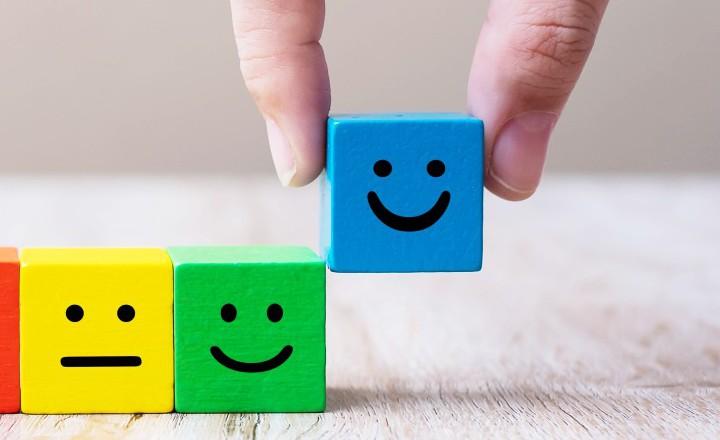 Emoticon Faces on Wooden Blocks