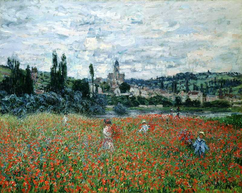 'Poppy Fields near Argenteuil' by Claude Monet, c. 1875