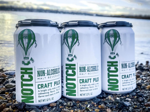 A non-alcoholic beer beer brewed by Notch Brewing